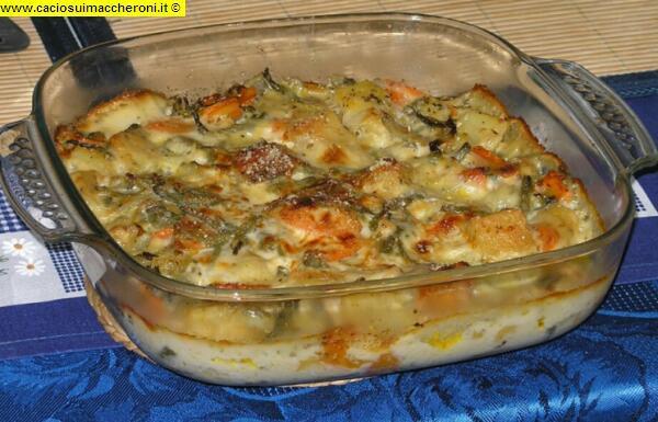 Ricetta Verdure Besciamella.Ricette Cucina Buona Tavola Piatti Pronti Verdure Alla Besciamella